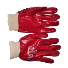 SP-0006W Перчатки масло-бензостойкие красные 27см (12/120шт)