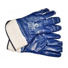 SP-0001W Перчатка маслостойкая (синяя) на осн. трикот. покрыт. нитрил. с твердым манжет. 10.5' 120шт