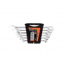 51-700 Набор ключей рожково-накидных CRV сатин, 6шт, (8-17мм) усиленной прочности