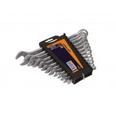 51-710 Набор ключей рожково-накидных CRV сатин, 12шт, (6-22мм) усиленной прочности