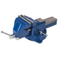 36-400Тиски слесарные поворотные синие 150мм