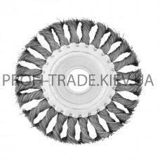 BT-7115 Щетка дисковая d 115*22 мм (плетеная проволока) (60/1)