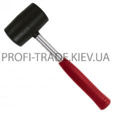 HT-0231 Киянка резиновая 450г 65мм, черная резина, металл. ручка