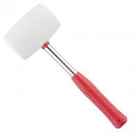HT-0235 Киянка резиновая 680г 80мм, белая резина, металл. ручка
