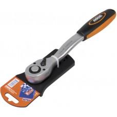 58-200 Ключ трещоточный с реверсом (72 зубца), двухкомп. рукоятка  1/4''