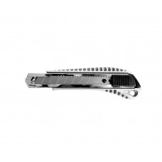 HT-0504 Нож с ломающимся лезвием 18мм, с металлической направляющей, противоскользящий корпус