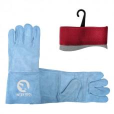 SP-0009W Перчатки замшевые серые 14'  (12/60шт )