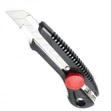 HT-0502 Нож с металлической направляющей под лезвие 18мм с винтовым фиксатором