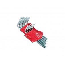 HT-0607 Набор Г-образных ключей TORX 9шт, Т10-Т50, Cr-V, Small