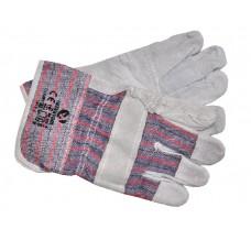 SP-0014W Перчатки комбинированные из замши и ткани 10.5' (12/120шт)