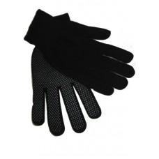 Перчатки нейлоновые с точкой (черные) (12/600шт) ПТ-3245