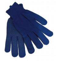 Перчатки нейлоновые с точкой (синие) (12/600шт) ПТ-3293