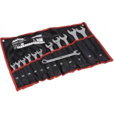 51-715 Набор ключей рожково-накидных CRV сатин, 25 шт (6-32 мм) в брезенте
