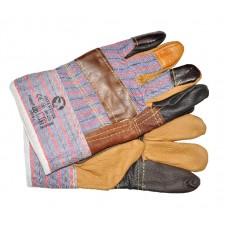 SP-0004W Перчатка комбинированная из кожи и ткани 10.5'(ящик 120 пар)