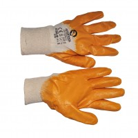 SP-0109W Перчатка х/б трикотаж покрытая нитрилом на ладони 9' (желтая) (120пар/ящ)
