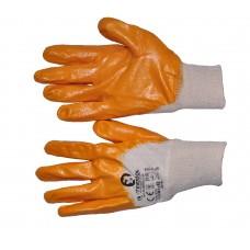 SP-0108W Перчатка х/б трикотаж покрытая нитрилом на ладони 8' (желтая) (120пар/ящ)