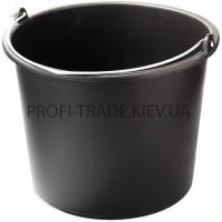 Ведро пластиковое черное 12л ПТ-6250