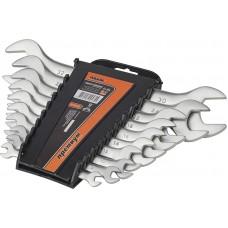 51-510 Набор ключей рожковых CRV сатин, 10шт(6-32мм) усиленнойпрочности, PREMIUM