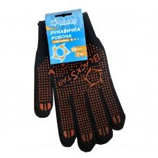 70-07002 Перчатка Черная с желтым с ПВХ 'BlackStar' плотная 7класс (10/200шт)