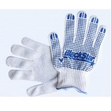 70-10110 Перчатка Белая с синим ПВХ 'BlackStar' уплотненная 10класс (10/300шт)