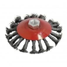 60-40125 Щетка металлическая 125мм*М14, для УШМ, тарелка жесткая  BLACK STAR (60/1)