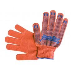 70-07009 Перчатка оранжевая с синим ПВХ 'BlackStar' Универсал 10класс (10/300шт)