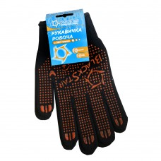 70-07007 Перчатка черная с ПВХ 'BlackStar' Универсал 10класс (10/300шт)