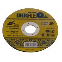 Диск 125*2.0*22,2мм отрезной по металлу  BLACK STAR UKRflex (25шт) 12-12520
