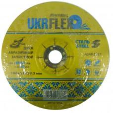 Диск Т27 180*6.0*22,2мм зачистной по металлу  BLACK STAR UKRflex (10шт) 12-18060