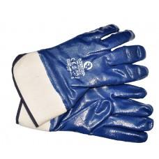 SP-0001W аналог Перчатка маслост. (синяя) на осн. трикот. покрыт.нитрил.стверд.манжет. 10.5' 120шт
