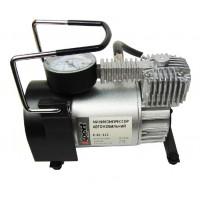 E-81-115 Миникомпрессор автомобильный 12В, 11бар, 40л/мин, набор адаптеров (3шт)