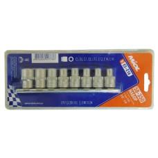 58-350 Набор головок TORX CRV 3/8. 8шт (E5-E16)