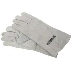 Перчатки замшевые серые (краги) 35см 'BlackStar Safety Line' 70-10201