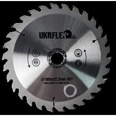 34-18530 UKRflex Диск пильный по дереву 185*22,2*30Z (кольцо 16мм) с напайкой