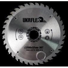 34-20036 UKRflex Диск пильный по дереву 200*32*36Z (кольцо 25,4мм) с напайкой