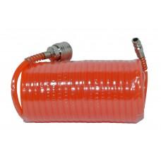 80K174 Шланг спиральный (полиэтилен) с быстроразъемным соединением 5,5*8мм, 15м HOUSE TOOLS