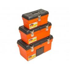 79K106 Ящик для инструмента, метал. замки, набор 3шт (13',16',19') HOUSE TOOLS