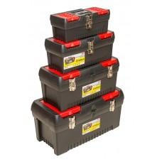 79K335 Ящик для инструмента, метал. замки, набор 4шт (12,5',16',19',24') HOUSE TOOLS