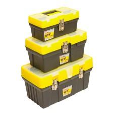 79K362 Ящик для инструмента, метал. замки, набор 3шт (12,5',16',19') HOUSE TOOLS