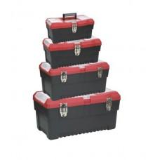 79K384 Ящик для инструмента, метал. замки, набор 4шт (13',16',19') HOUSE TOOLS