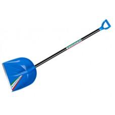 0244-Ч Лопата снегоуборочная 'Феличита'410*390мм синяя с черенком ЦИ