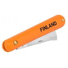 1453 Нож прививочный с прямым лезвием из нерж.стали FINLAND (17,8 см)