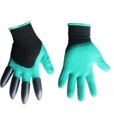Перчатки садовые 'Когти'(зеленые) ПТ-0476