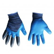 Перчатки садовые 'Когти'(синие) ПТ-0477