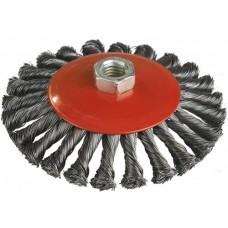 06-487 Щетка конусная (пучки витой проволоки) 100 мм, М14