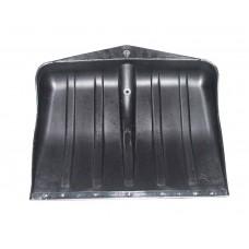 Лопата снегоуборочная пластиковая  (490*495 мм, черная, без черенка) ПТ-9705
