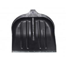 Лопата снегоуборочная пластиковая  (395*395 мм, черная, без черенка) ПТ-9707