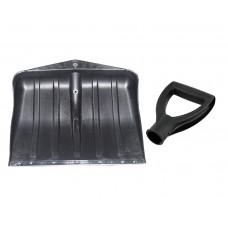 Лопата снегоуборочная пластиковая  (420*470 мм, черная, без черенка) ПТ-9708