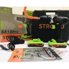 Шуруповерт аккумуляторный STROMO SA 18 PRO Extra (с гибким валом)