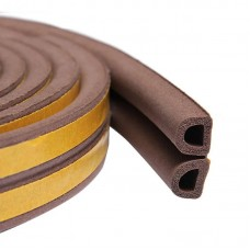 Уплотнитель самоклеющийся, профиль D коричневый 9*8 мм 100 м 040017